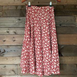 Dresses & Skirts - Vintage handmade floral midi skirt
